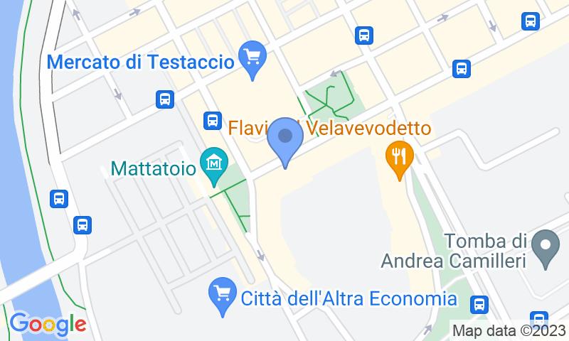 Localización del parking en el mapa - Reservar una plaza en el parking MuoviAmo Testaccio