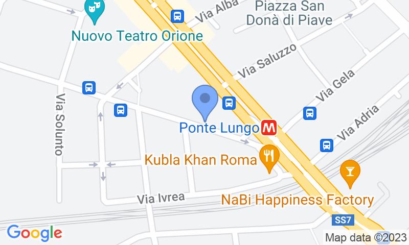 Localización del parking en el mapa - Reservar una plaza en el parking Gran Garage Bevilacqua