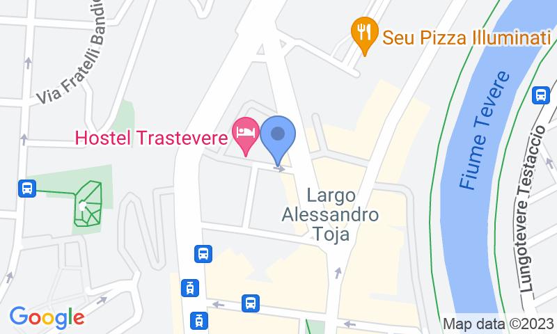 Localizzazione del parcheggio sulla mappa - Prenota un posto nel parcheggio Porta Portese