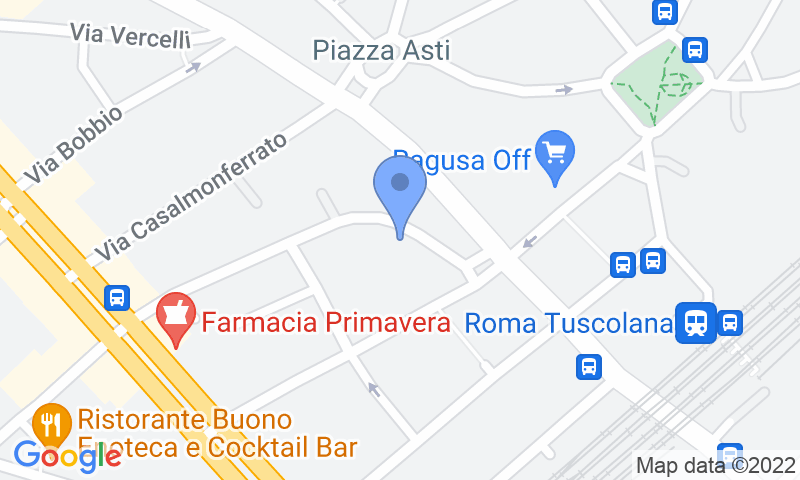 Localización del parking en el mapa - Reservar una plaza en el parking Due Emme