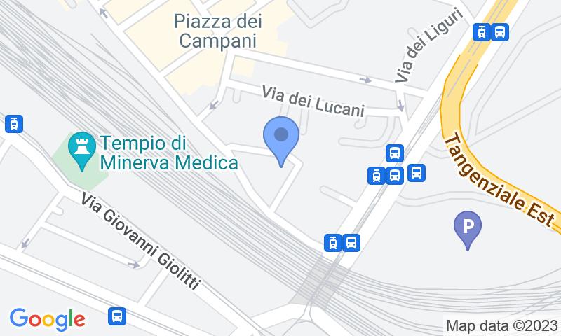 Localización del parking en el mapa - Reservar una plaza en el parking Autobruzi