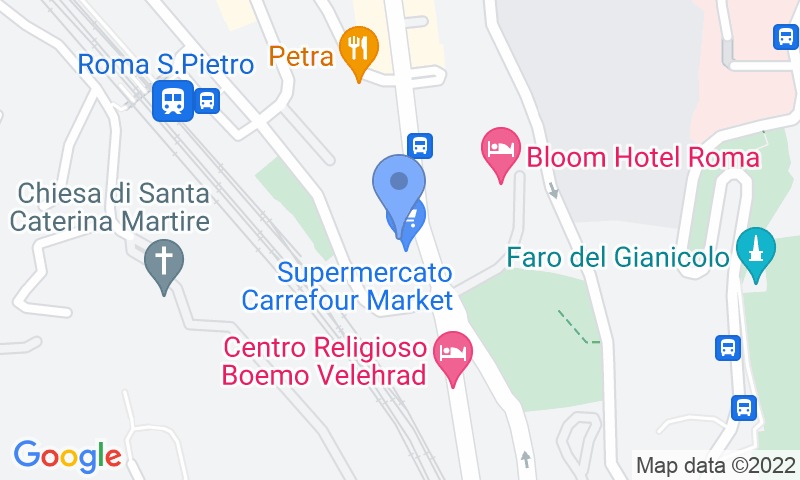 Parking location in the map - Book a parking spot in CRF Vaticano car park
