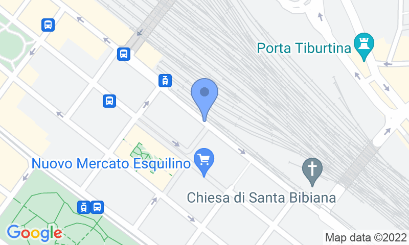 Parking location in the map - Parking Esquilino Stazione Termini