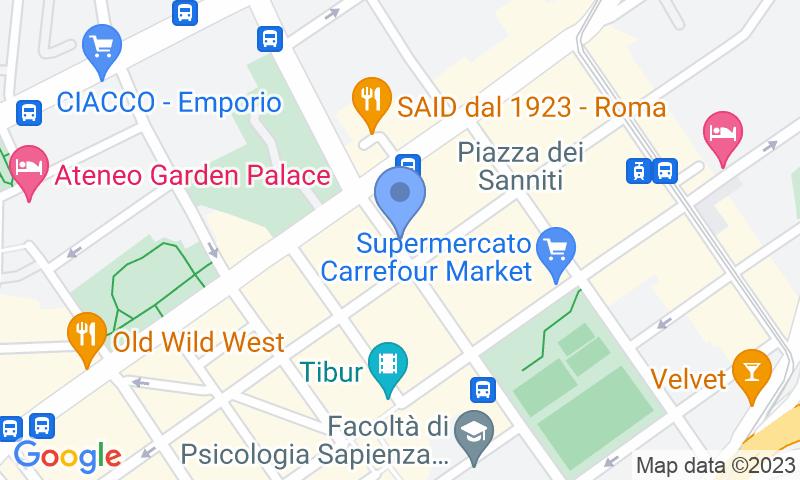 Localizzazione del parcheggio sulla mappa - Prenota un posto nel parcheggio Frank Parking