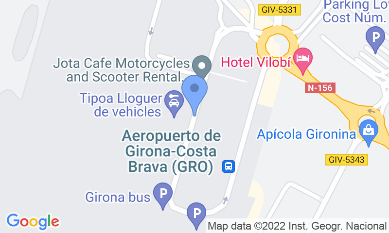 Localizzazione del parcheggio sulla mappa - Prenota un posto nel parcheggio Aeropark VIP Valet Girona-Costa Brava