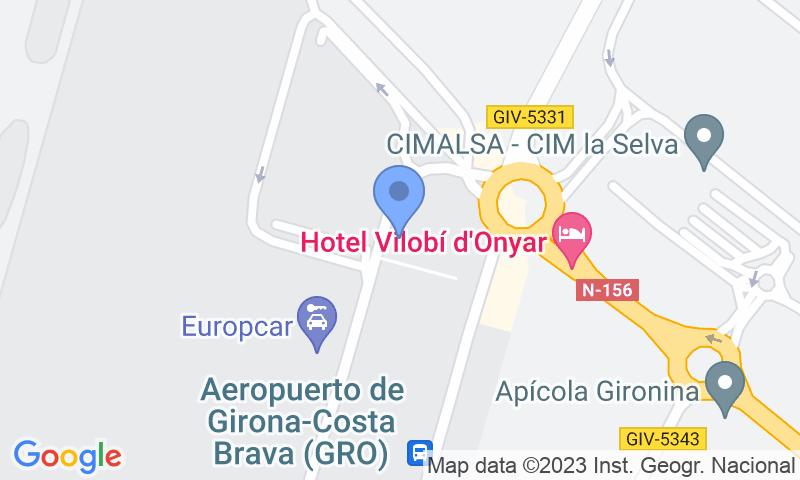 Lugar de estacionamento no mapa - Reserve uma vaga de  estacionamento no AENA General Girona