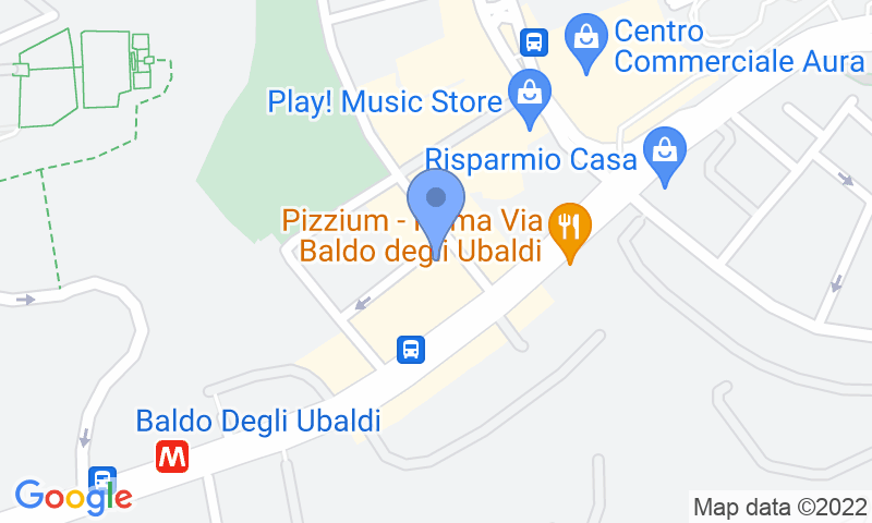 Parking location in the map - Book a parking spot in Garage Centrale Roma car park