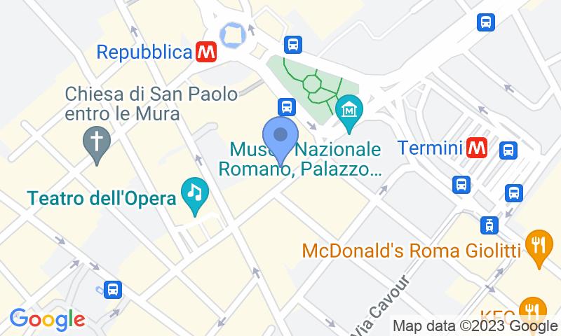 Localización del parking en el mapa - Reservar una plaza en el parking MuoviAmo Viminale