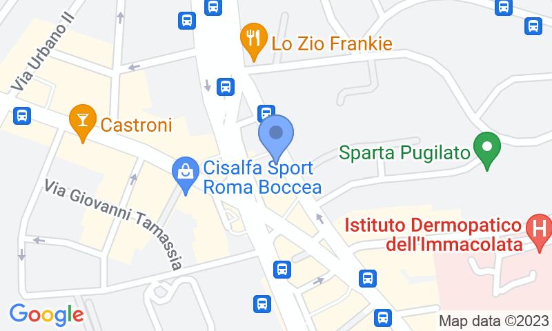 Parking location in the map - Book a parking spot in Autorimessa Boccea car park