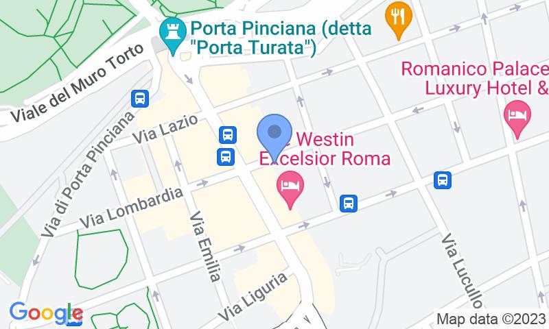 Lugar de estacionamento no mapa - Parcheggio Via Veneto MuoviAmo