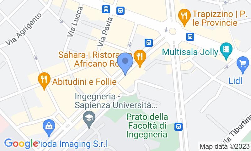 Localización del parking en el mapa - Reservar una plaza en el parking Ippocrate