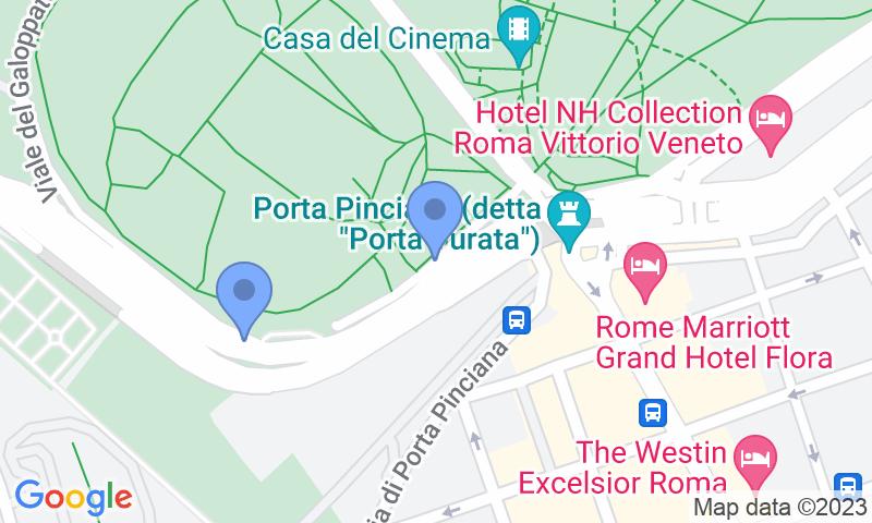 Localizzazione del parcheggio sulla mappa - Prenota un posto nel parcheggio Saba Villa Borghese