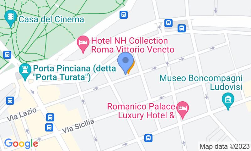 Localización del parking en el mapa - Reservar una plaza en el parking MuoviAmo Pinciano (Hertz)