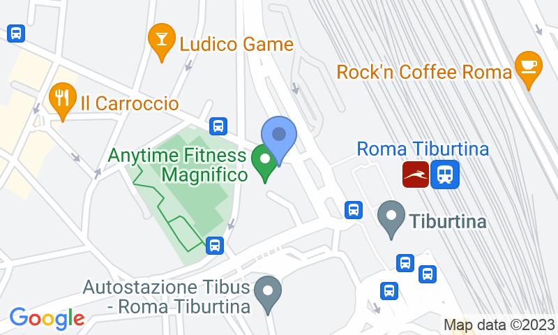 Parking location in the map - Book a parking spot in Stazione Tiburtina - Lorenzo il Magnifico car park