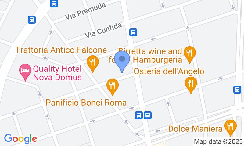 Localización del parking en el mapa - Reservar una plaza en el parking Garage Dacar