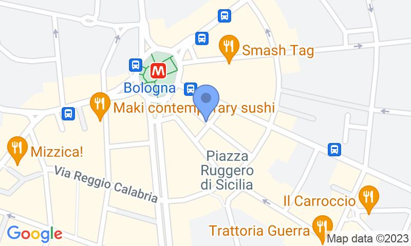 Localización del parking en el mapa - Reservar una plaza en el parking Piazza Bologna