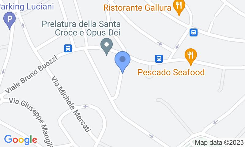 Localización del parking en el mapa - Reservar una plaza en el parking Parioli Parking