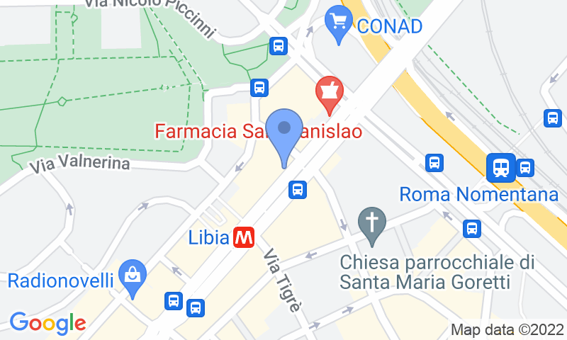 Localització del parking al mapa - Reservar una plaça al parking MuoviAmo Libia