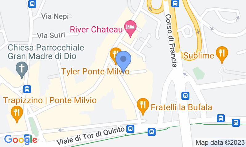 Localització del parking al mapa - Reservar una plaça al parking MuoviAmo Flaminio