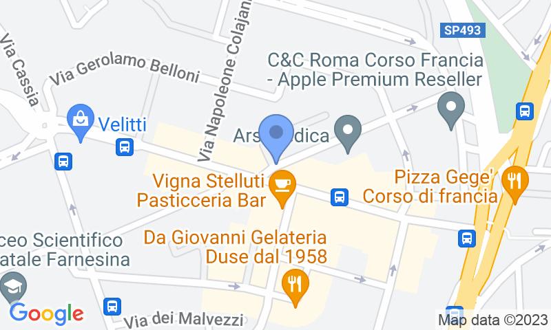 Localizzazione del parcheggio sulla mappa - Prenota un posto nel parcheggio City Parking Vigna Clara
