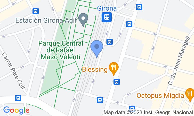 Localizzazione del parcheggio sulla mappa - Prenota un posto nel parcheggio SABA ADIF Estación Girona Renfe