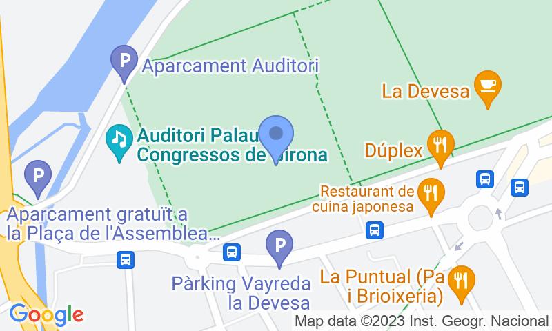 Localizzazione del parcheggio sulla mappa - Prenota un posto nel parcheggio Turismos Vayreda La Devesa