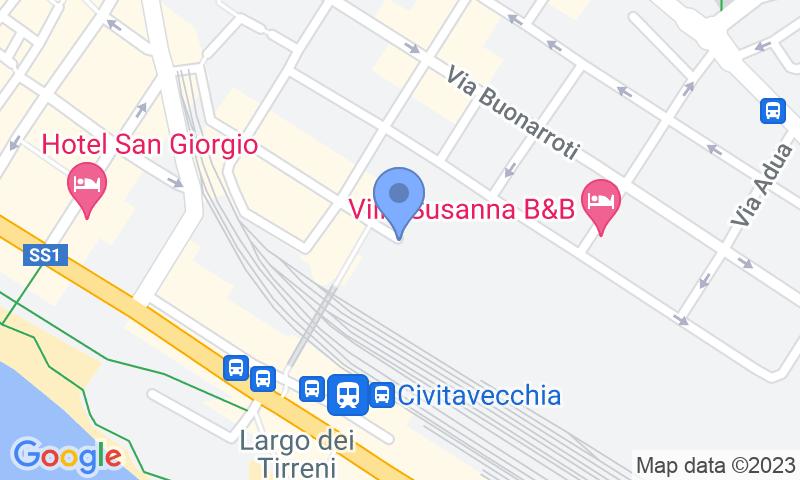 Localizzazione del parcheggio sulla mappa - Prenota un posto nel parcheggio LogiPort Feltrinelli-Civitavecchia