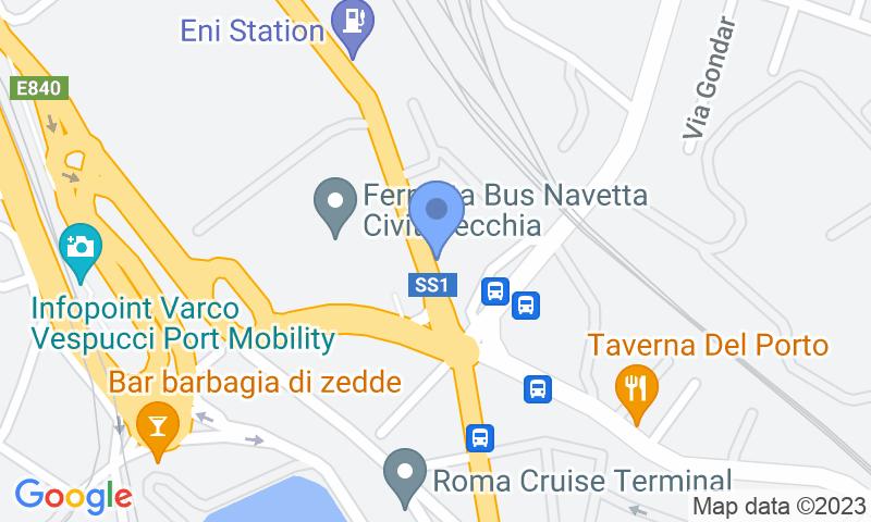 Localización del parking en el mapa - Reservar una plaza en el parking Giammauto - Porto Civitavecchia - Coperto
