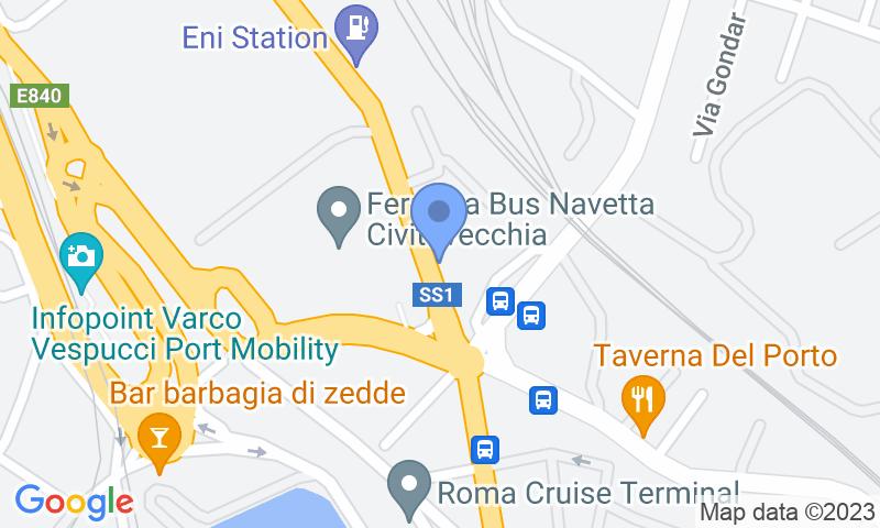 Localizzazione del parcheggio sulla mappa - Prenota un posto nel parcheggio Giammauto - Porto Civitavecchia - Scoperto