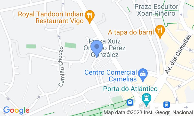 Localizzazione del parcheggio sulla mappa - Prenota un posto nel parcheggio IC - Coruña - Juzgados