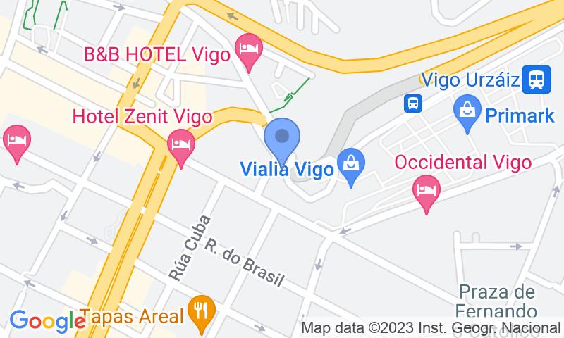 Parking location in the map - Book a parking spot in SABA ADIF Estación Vigo Urzaiz Renfe car park