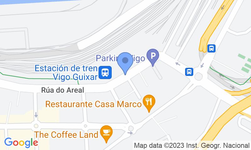 Localizzazione del parcheggio sulla mappa - Prenota un posto nel parcheggio SABA ADIF Estación Vigo Guixar Renfe