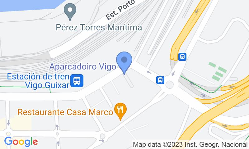 Localización del parking en el mapa - Reservar una plaza en el parking Vigo