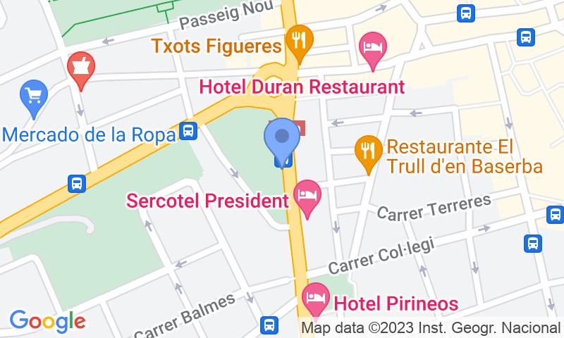 Localización del parking en el mapa - Reservar una plaza en el parking SABA El Firal