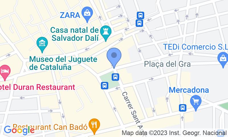 Localización del parking en el mapa - Reservar una plaza en el parking SABA Plaça Catalunya Figueres