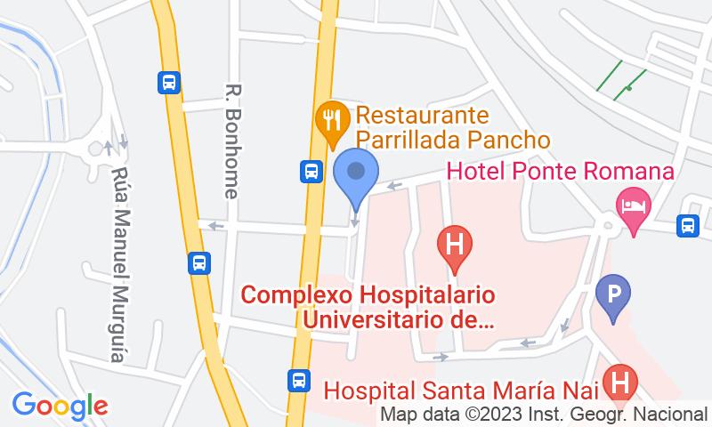 Lugar de estacionamento no mapa - Reserve uma vaga de  estacionamento no SABA Hospital Ourense (CHUO)