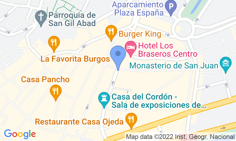 Emplacement du parking sur la carte - Réservez une place dans le parking APK2 Plaza Mayor de Burgos