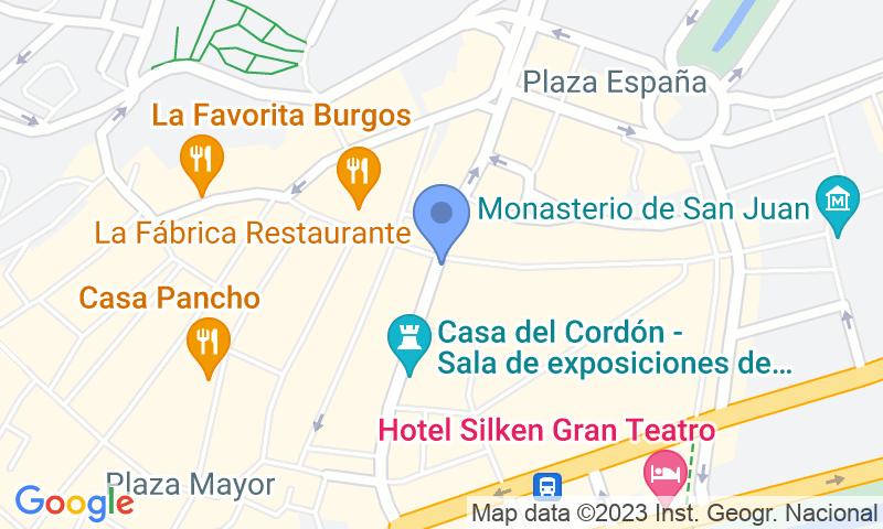 Localizzazione del parcheggio sulla mappa - Prenota un posto nel parcheggio APK2 Plaza Mayor de Burgos