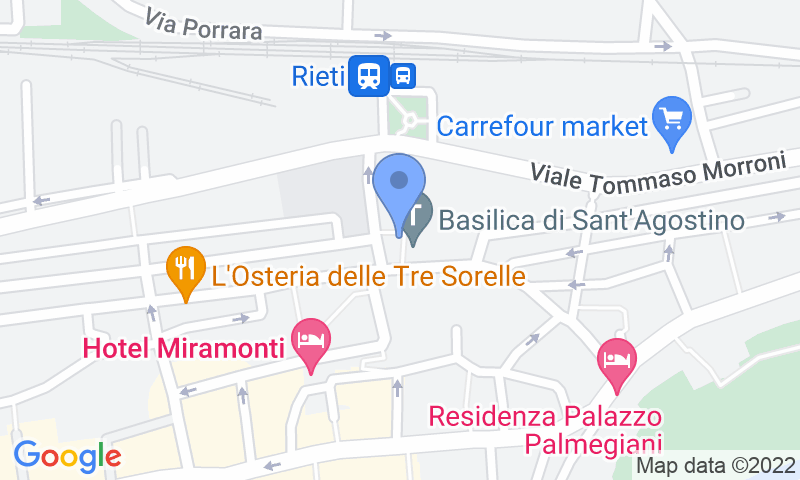 Localizzazione del parcheggio sulla mappa - Prenota un posto nel parcheggio Saba Rieti Oberdan-Mazzini
