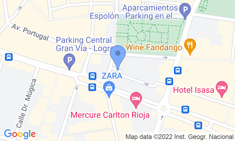Parkeerlocatie op de kaart - Reserveer een parkeerplek in parkeergarage Logroño