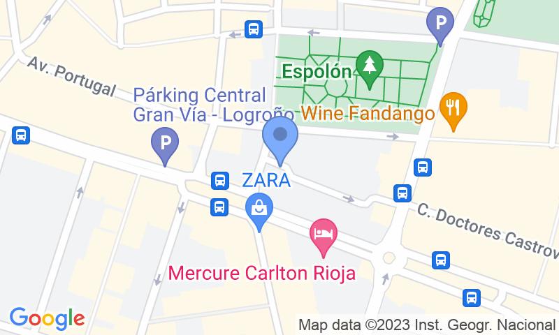 Emplacement du parking sur la carte - Réservez une place dans le parking Logroño