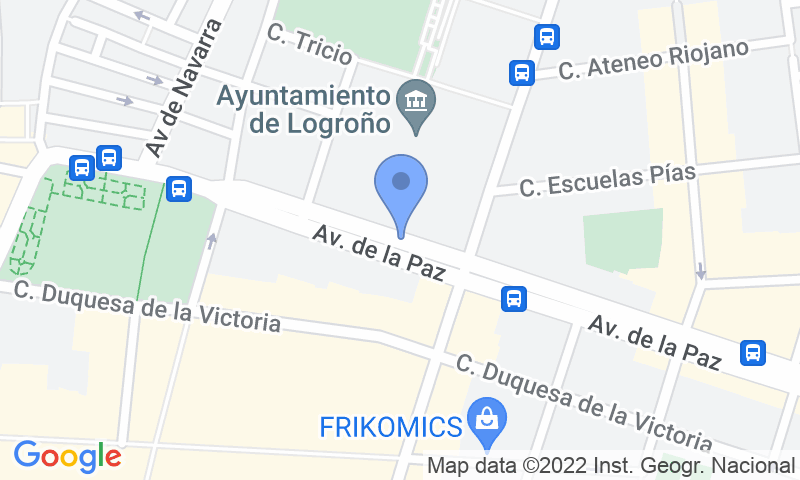 Parking location in the map - Book a parking spot in Plaza Ayuntamiento car park