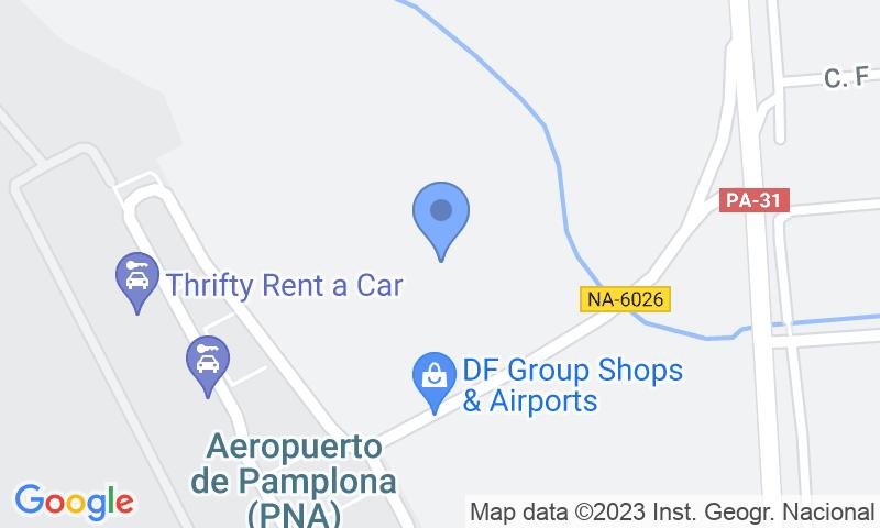 Localizzazione del parcheggio sulla mappa - Prenota un posto nel parcheggio AENA General P1 Pamplona