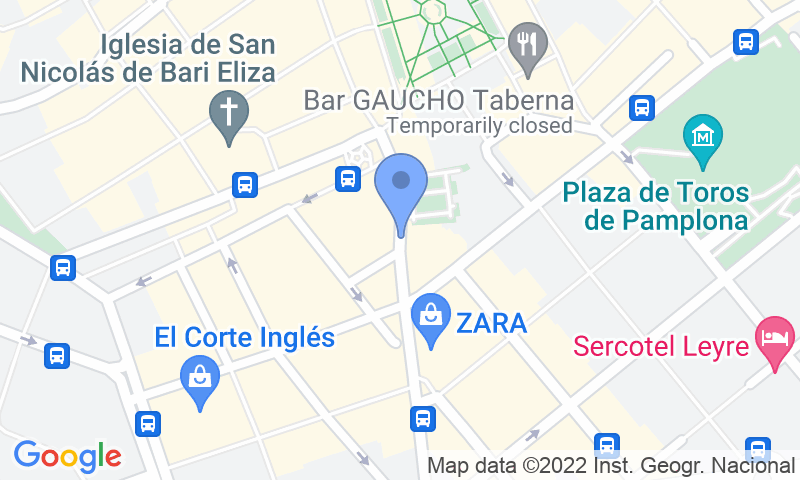 Расположение парковки на карте - Забронируйте паркоместо на стоянке SABA Plaza del Castillo
