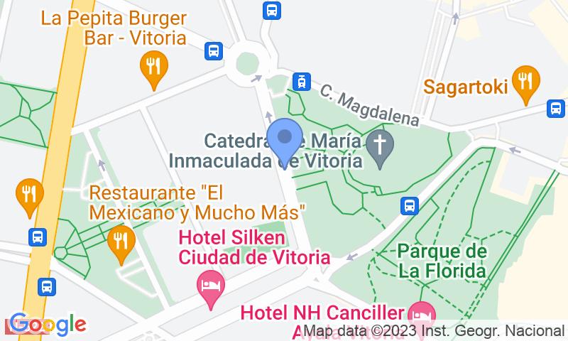 Emplacement du parking sur la carte - Réservez une place dans le parking APK2 Catedral de Vitoria