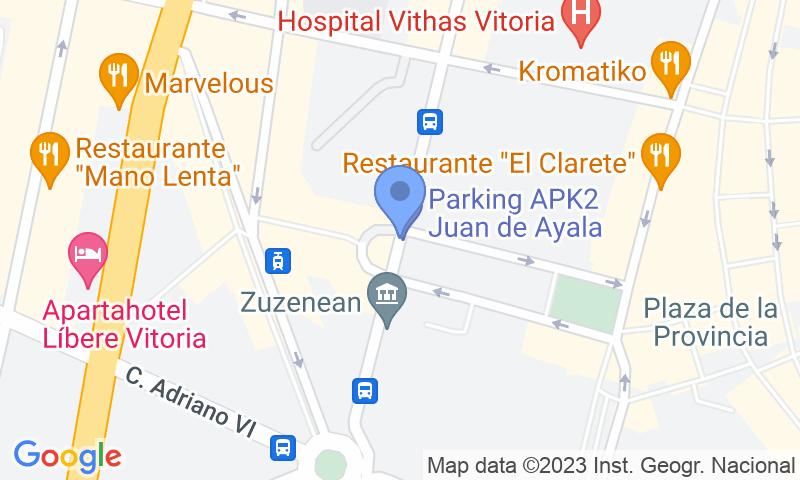 Localizzazione del parcheggio sulla mappa - Prenota un posto nel parcheggio APK2 Juan de Ayala