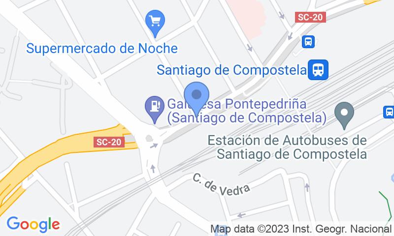 Lugar de estacionamento no mapa - Reserve uma vaga de  estacionamento no SABA ADIF Estación Santiago de Compostela Renfe