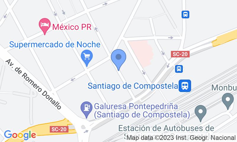 Lugar de estacionamento no mapa - Reserve uma vaga de  estacionamento no Estación de Santiago A-Rosa