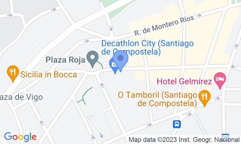 Parking location in the map - Book a parking spot in Praza Roxa de Santiago car park