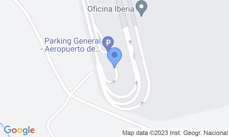 Lugar de estacionamento no mapa - Reserve uma vaga de  estacionamento no AENA General Santiago